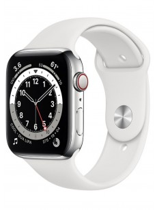 Умные часы Apple Watch Series 6 GPS + Cellular 40mm Stainless Steel Case with Sport Band