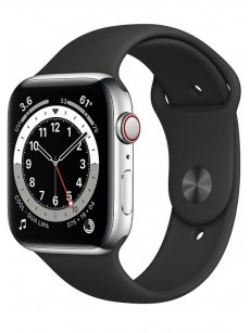 Умные часы Apple Watch Series 6 GPS + Cellular 44mm Stainless Steel Case with Sport Band